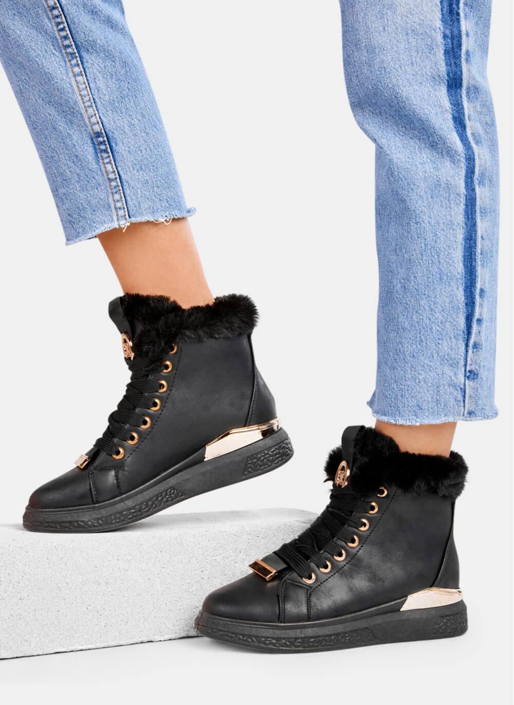 sneakersy czarne