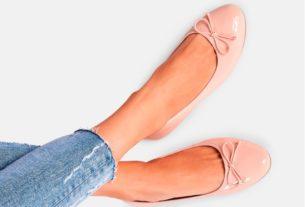 rózowe baleriny dla kobiet